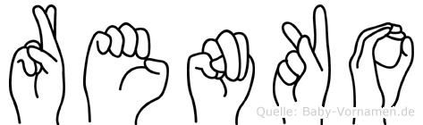 Renko im Fingeralphabet der Deutschen Gebärdensprache