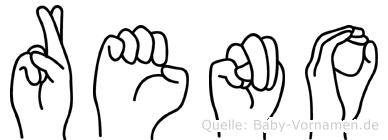 Reno in Fingersprache für Gehörlose