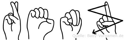 Renz im Fingeralphabet der Deutschen Gebärdensprache