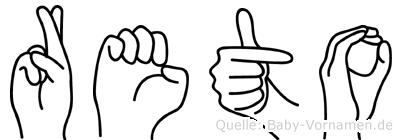 Reto in Fingersprache für Gehörlose