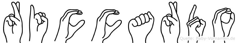 Riccardo in Fingersprache für Gehörlose