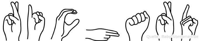 Richard in Fingersprache für Gehörlose