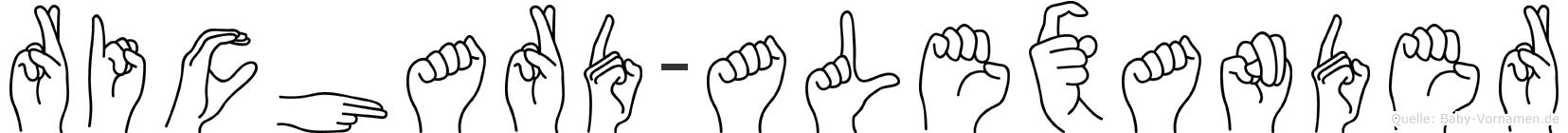 Richard-Alexander im Fingeralphabet der Deutschen Gebärdensprache