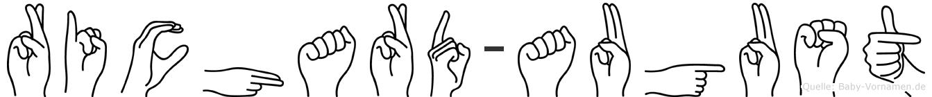 Richard-August im Fingeralphabet der Deutschen Gebärdensprache