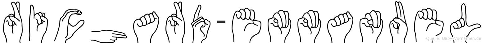 Richard-Emmanuel im Fingeralphabet der Deutschen Gebärdensprache
