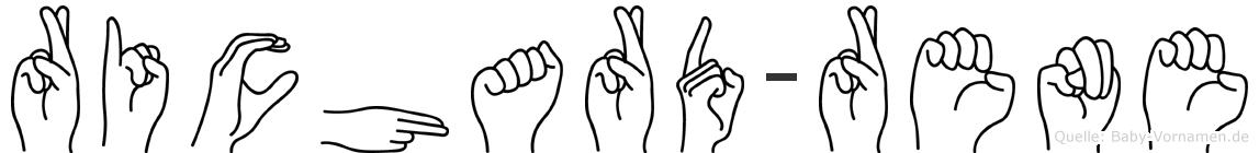 Richard-Rene im Fingeralphabet der Deutschen Gebärdensprache