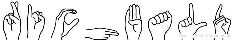 Richbald in Fingersprache für Gehörlose