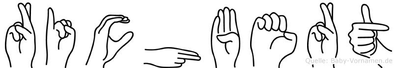 Richbert in Fingersprache für Gehörlose