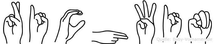 Richwin in Fingersprache für Gehörlose