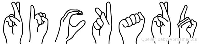 Rickard in Fingersprache für Gehörlose
