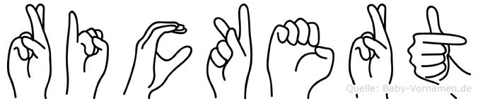 Rickert in Fingersprache für Gehörlose