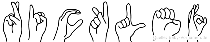 Ricklef im Fingeralphabet der Deutschen Gebärdensprache