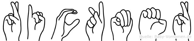 Rickmer im Fingeralphabet der Deutschen Gebärdensprache