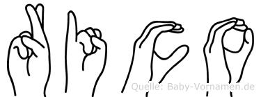 Rico in Fingersprache für Gehörlose