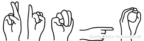 Ringo im Fingeralphabet der Deutschen Gebärdensprache