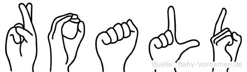 Roald im Fingeralphabet der Deutschen Gebärdensprache