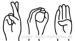 Rob in Fingersprache für Gehörlose