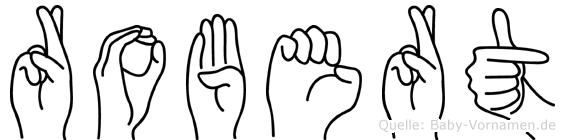Robert in Fingersprache für Gehörlose