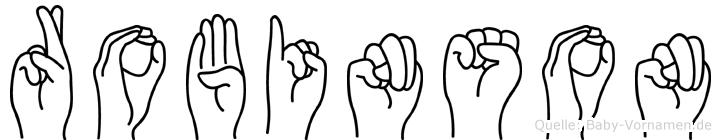 Robinson im Fingeralphabet der Deutschen Gebärdensprache