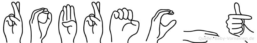 Robrecht in Fingersprache für Gehörlose