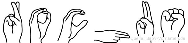 Rochus in Fingersprache für Gehörlose