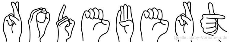 Rodebert in Fingersprache für Gehörlose