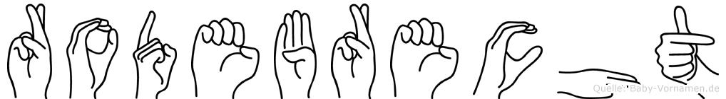 Rodebrecht in Fingersprache für Gehörlose