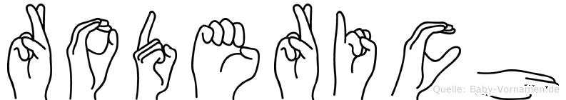 Roderich in Fingersprache für Gehörlose