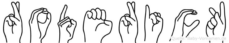 Roderick in Fingersprache für Gehörlose