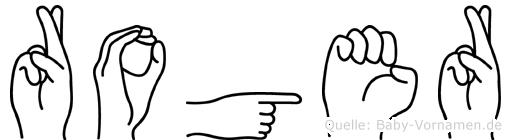 Roger in Fingersprache für Gehörlose