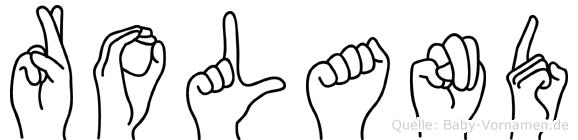 Roland in Fingersprache für Gehörlose