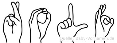 Rolf in Fingersprache für Gehörlose