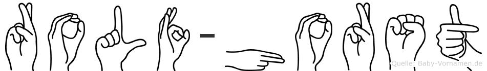 Rolf-Horst im Fingeralphabet der Deutschen Gebärdensprache