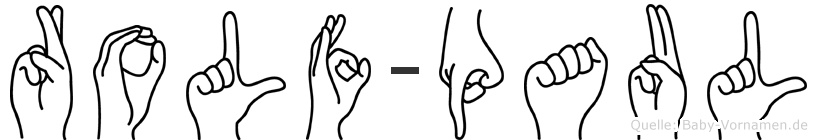 Rolf-Paul im Fingeralphabet der Deutschen Gebärdensprache