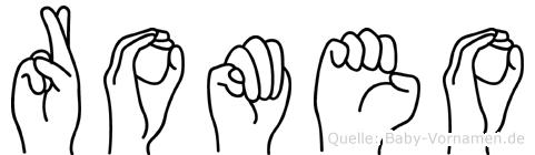 Romeo in Fingersprache für Gehörlose