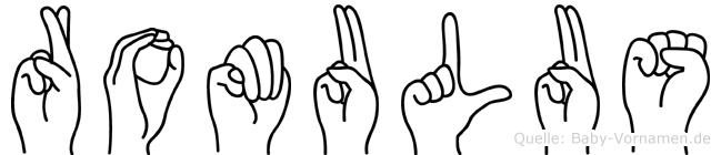 Romulus im Fingeralphabet der Deutschen Gebärdensprache