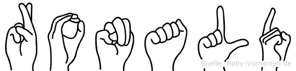 Ronald im Fingeralphabet der Deutschen Gebärdensprache