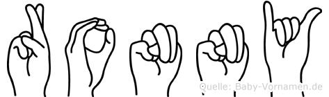 Ronny in Fingersprache für Gehörlose