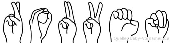 Rouven in Fingersprache für Gehörlose