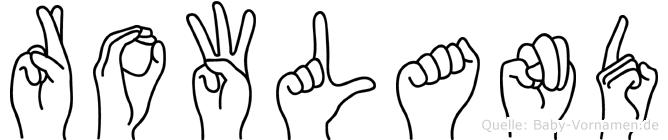 Rowland in Fingersprache für Gehörlose