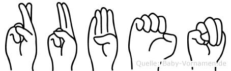 Ruben in Fingersprache für Gehörlose
