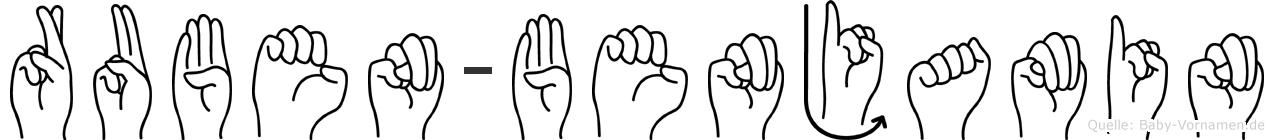 Ruben-Benjamin im Fingeralphabet der Deutschen Gebärdensprache