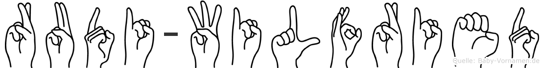 Rudi-Wilfried im Fingeralphabet der Deutschen Gebärdensprache