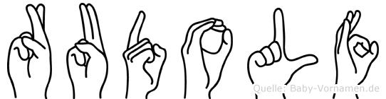 Rudolf in Fingersprache für Gehörlose