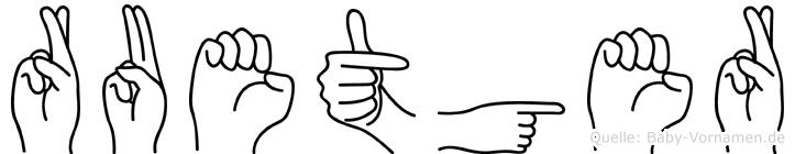 Ruetger in Fingersprache für Gehörlose