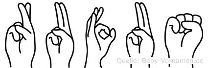 Rufus in Fingersprache für Gehörlose