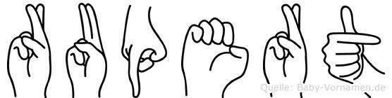Rupert in Fingersprache für Gehörlose