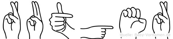 Rutger im Fingeralphabet der Deutschen Gebärdensprache