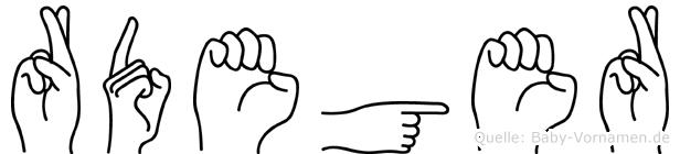 Rüdeger in Fingersprache für Gehörlose