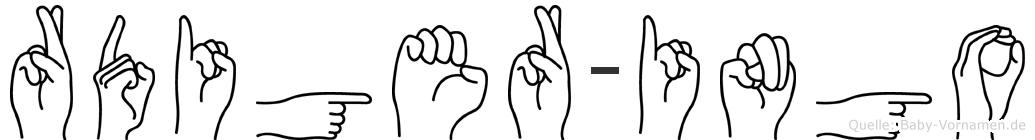 Rüdiger-Ingo im Fingeralphabet der Deutschen Gebärdensprache
